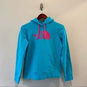 The north face woman's small hooded sweatshirt